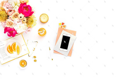 Styled Stock Photography Citrus Desk Collection #31