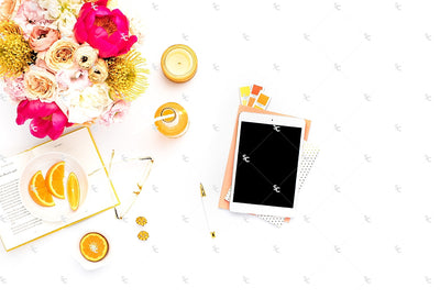 Styled Stock Photography Citrus Desk Collection #29