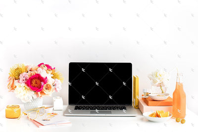 Styled Stock Photography Citrus Desk Collection #27