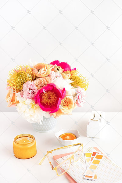 Styled Stock Photography Citrus Desk Collection #01