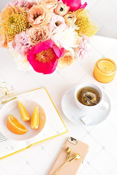 Styled Stock Photography Citrus Desk Collection #03