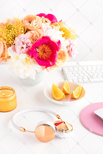 Styled Stock Photography Citrus Desk Collection #06