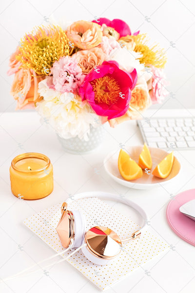 Styled Stock Photography Citrus Desk Collection #07