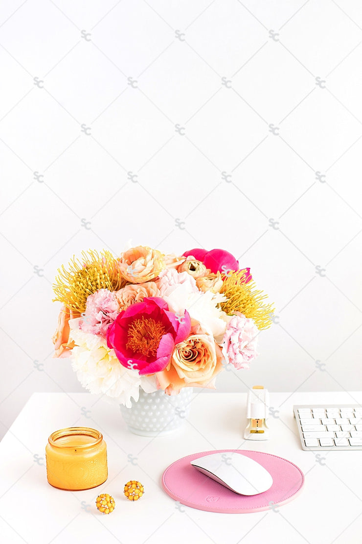 Styled Stock Photography Citrus Desk Collection #08
