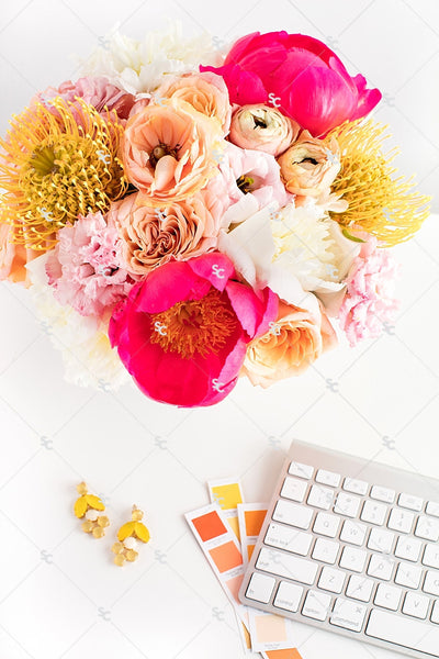 Styled Stock Photography Citrus Desk Collection #12