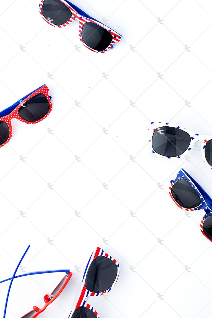Patriotic Collection #14 - Sunglass Styled Stock Image