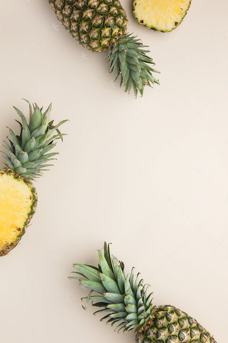 pineapple styled stock image