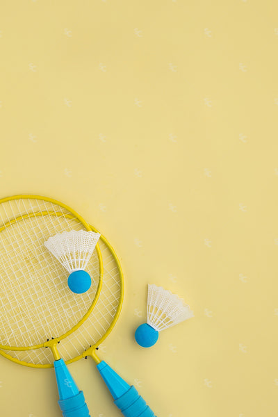 bright badminton styled stock image