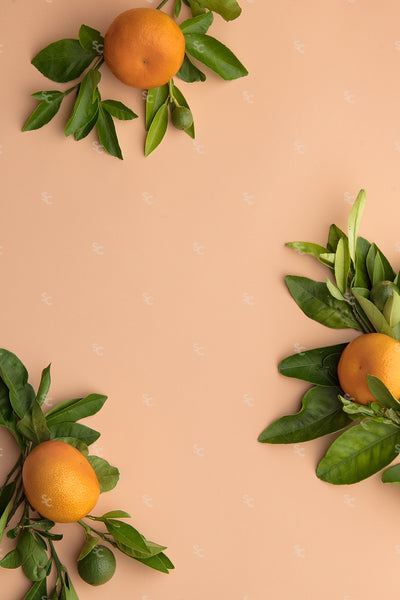 orange clustered fruit styled stock image