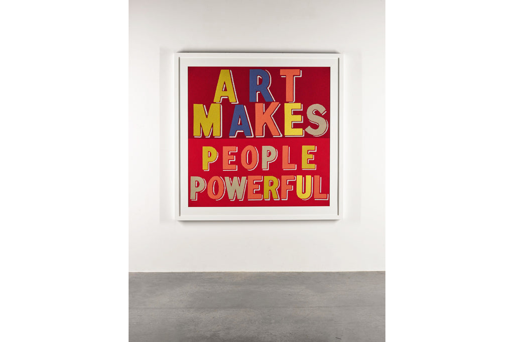 Fine Cell Work Bob and Roberta Smith Art Makes People Powerful