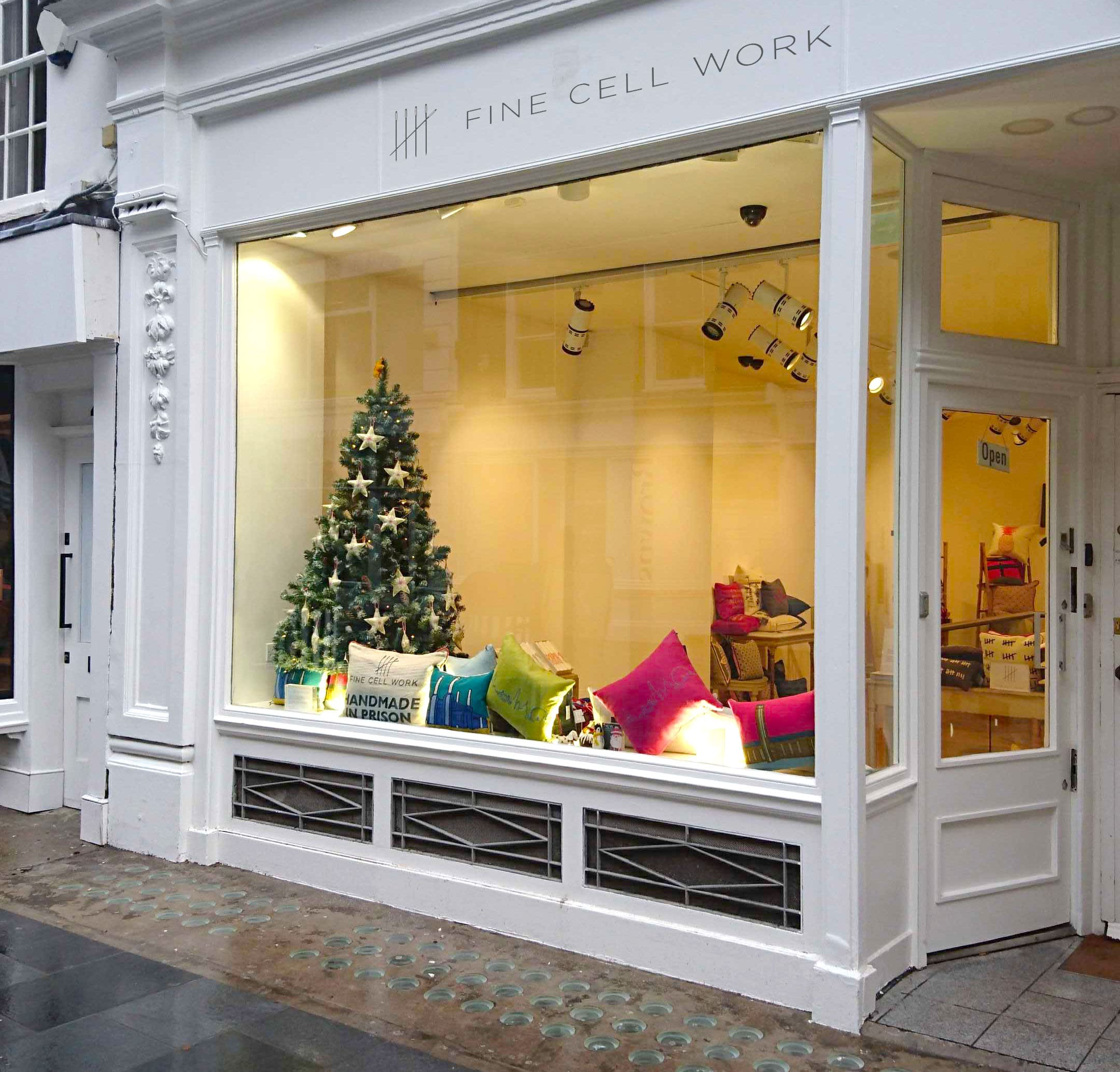 Fine Cell Work 42 South Molton Street Mayfair London Pop-up Shop Christmas December January