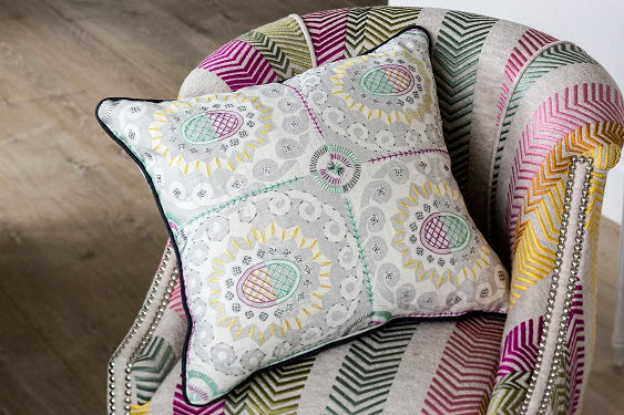 Embroidered Blithfield Peggy Angus Pineapple Cushion Fine Cell Work