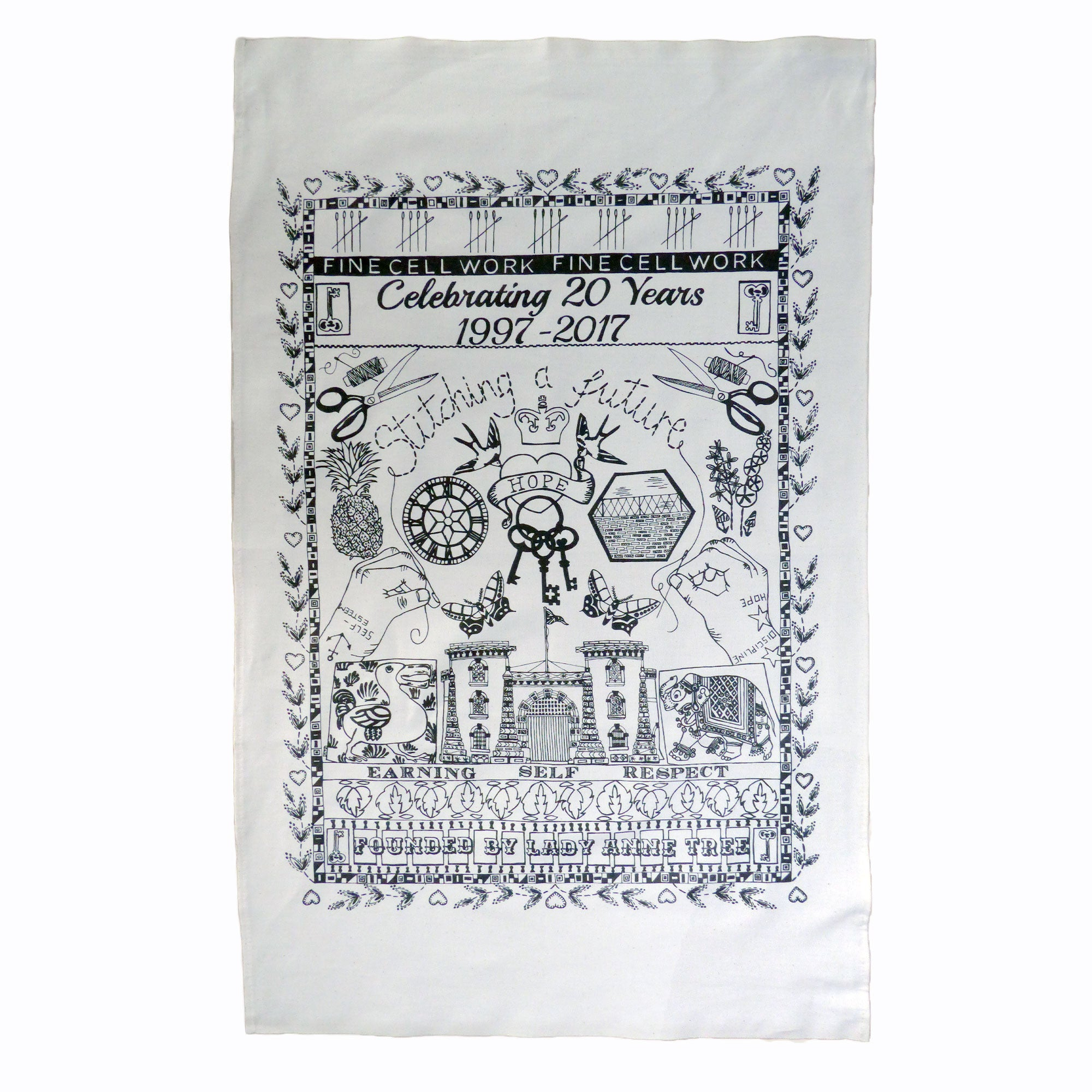 20 Year Anniversary Organic Cotton Tea Towel