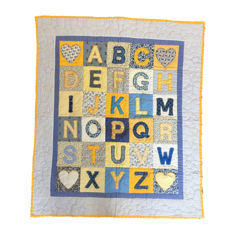Premium Quilt - Alphabet in Yellow