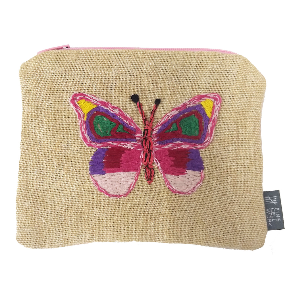 Butterfly Embroidered Small Purse