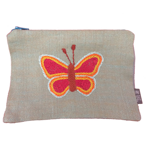 Butterfly Embroidered Purse Large