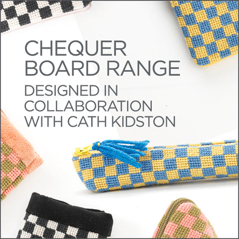 Cath Kidston for Fine Cell Work Silverstone Chequerboard Range