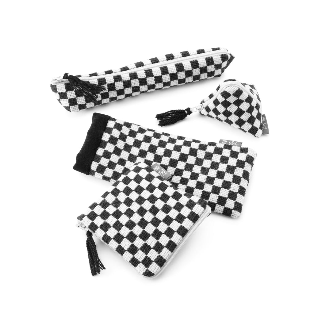 Silverstone Chequerboard Needlepoint Range Black and White Cath Kidston for Fine Cell Work