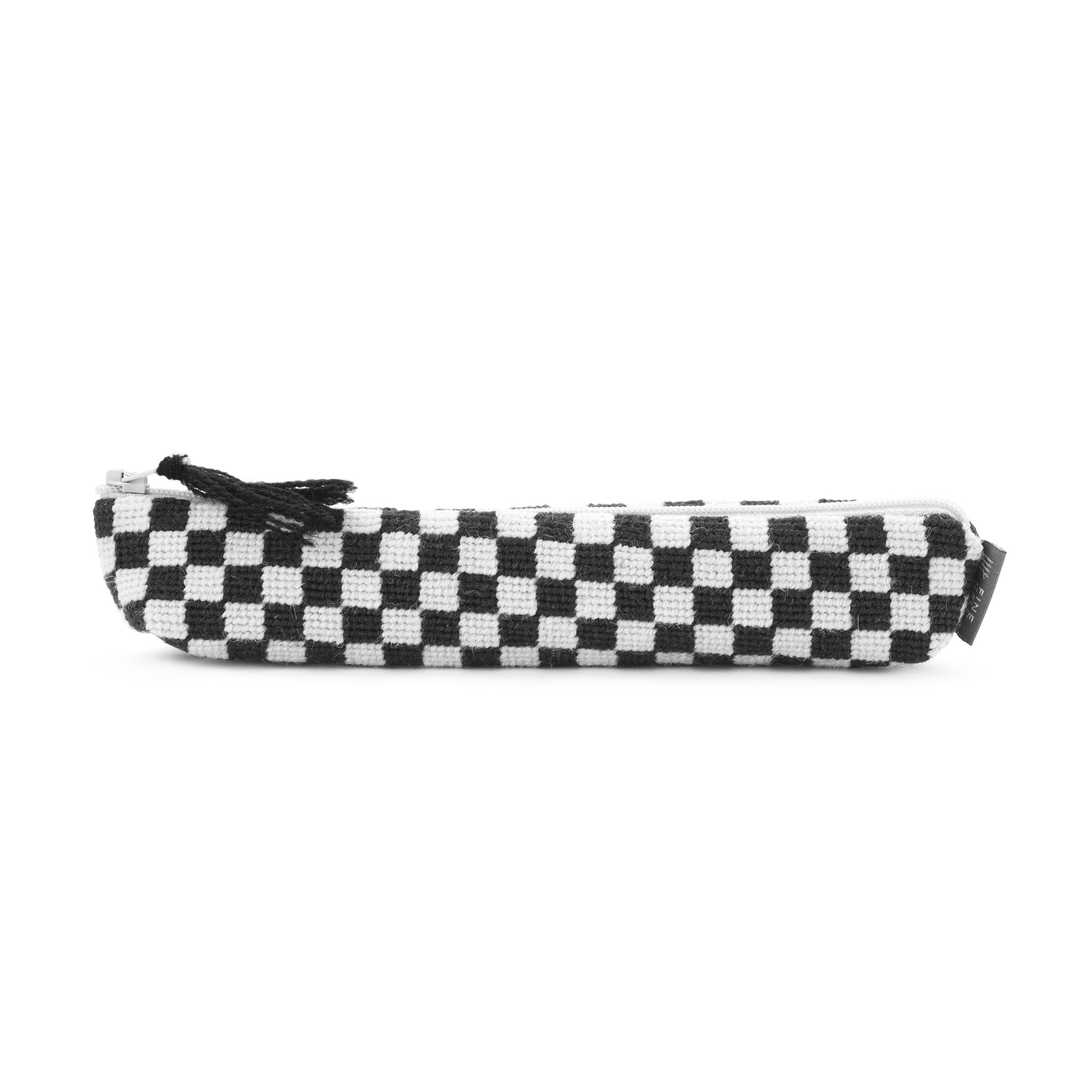 Silverstone Chequerboard Needlepoint Pencil Case Black and White Cath Kidston for Fine Cell Work