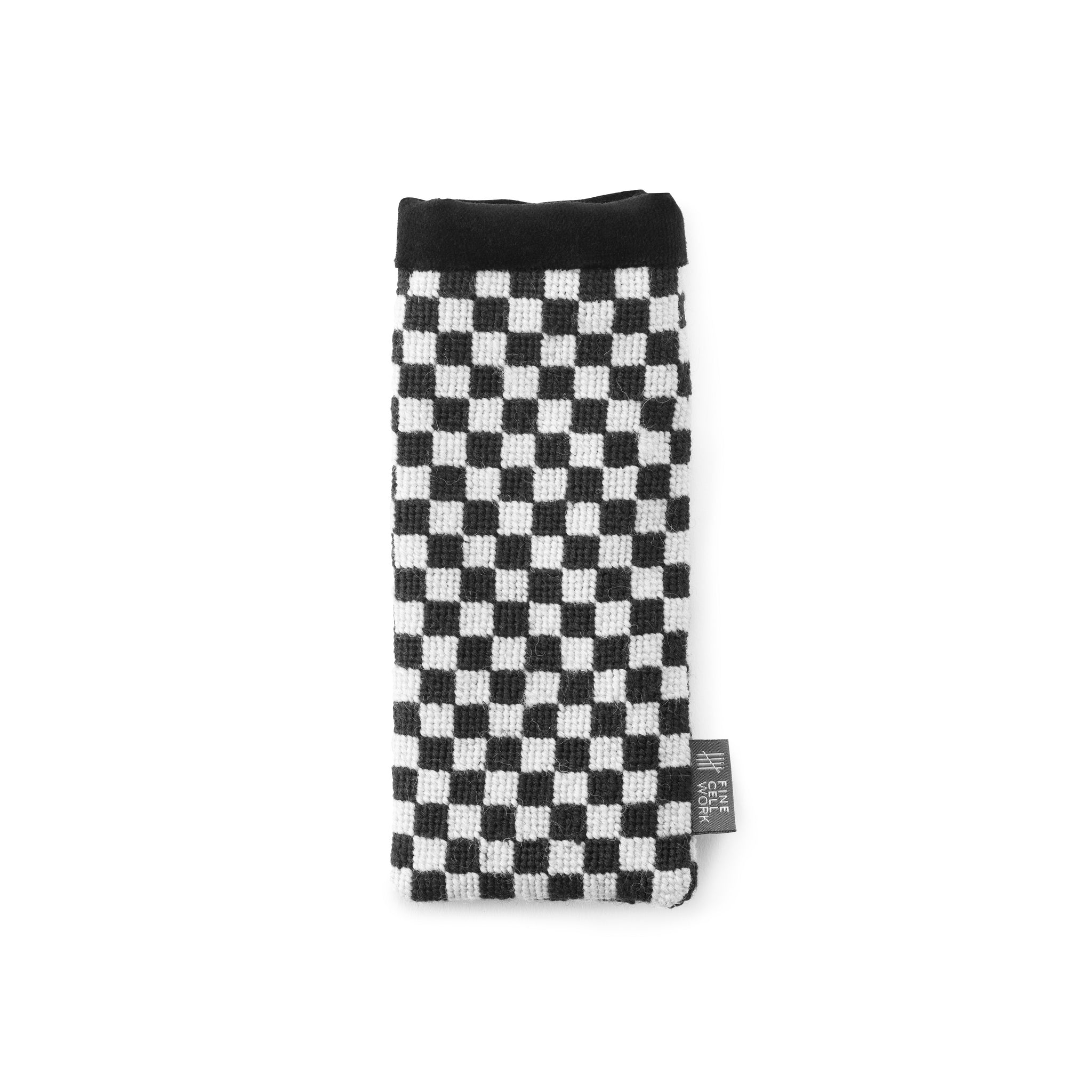 Silverstone Black and White Needlepoint Chequerboard Glasses Case Cath Kidston for Fine Cell Work