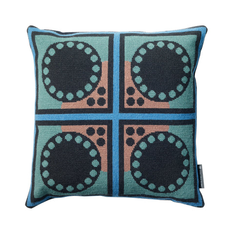 Cressida Bell Granadilla Cushion Blue and Green