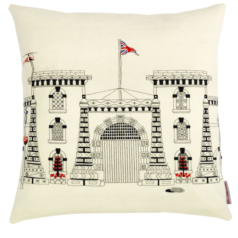 Wandsworth Prison Cushion by Charlene Mullen
