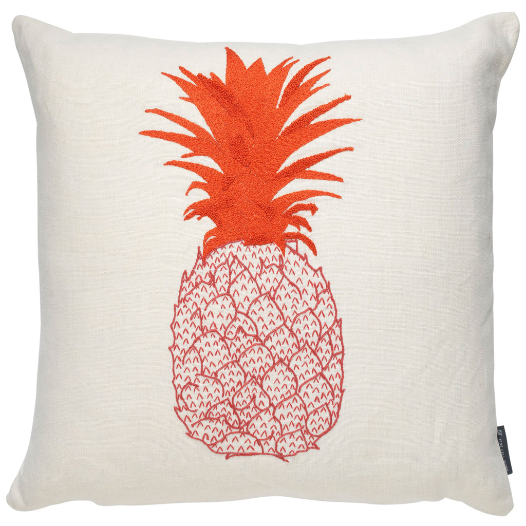 Pineapple cushion - Pink & Orange on Cream
