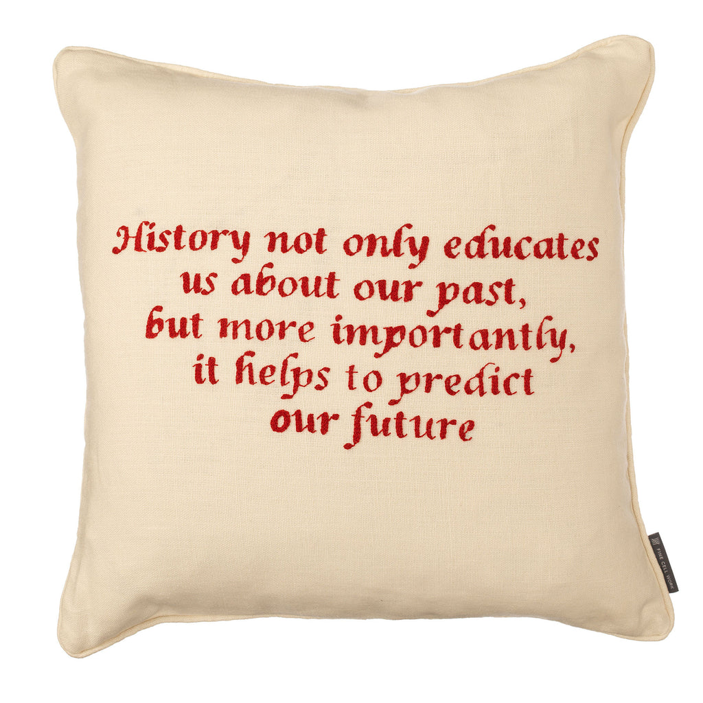 Commission your favourite quote saying or song as a cushion