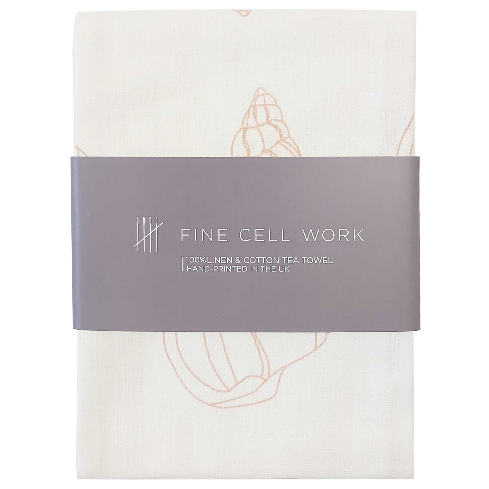 Melissa Wyndham Shell Cotton and Linen Tea Towel Pink