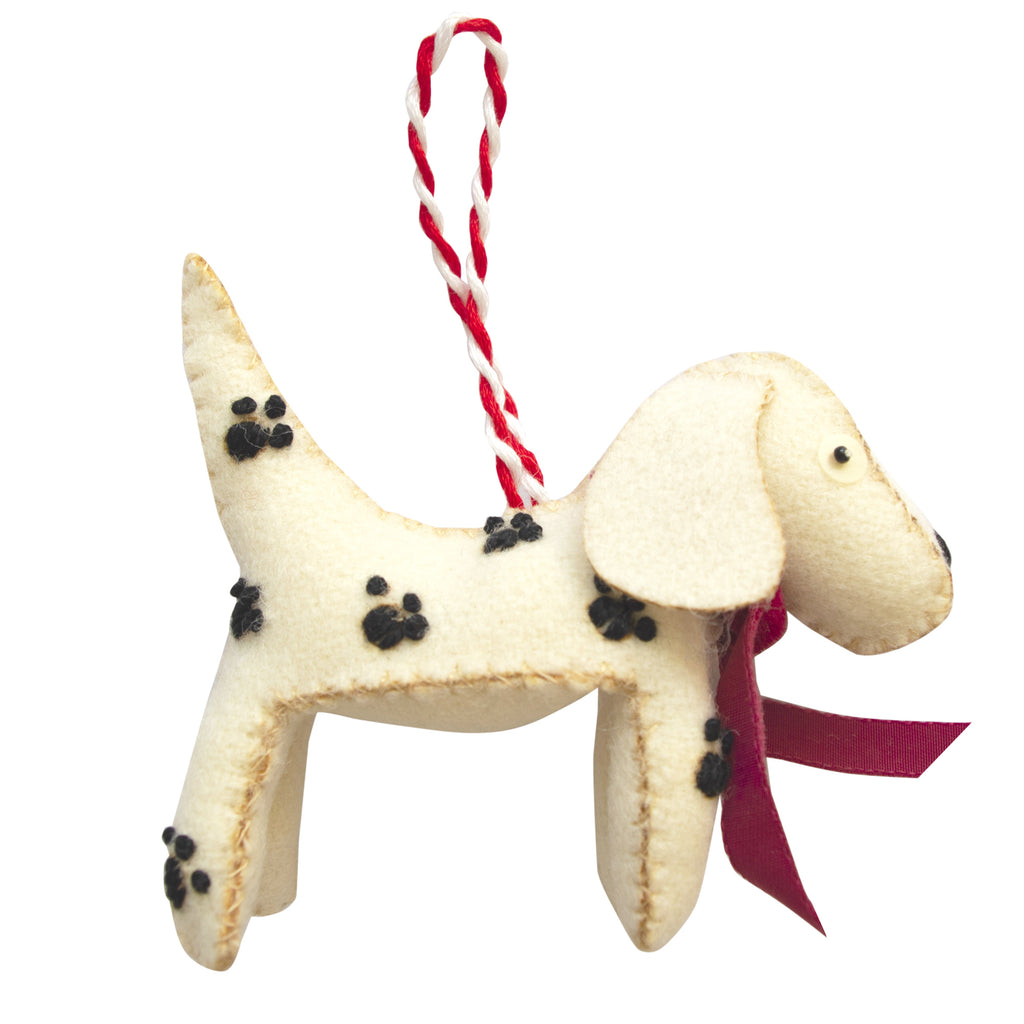 Fine Cell Work Handmade Christmas Decoration Dottie the Dalmatian Dog