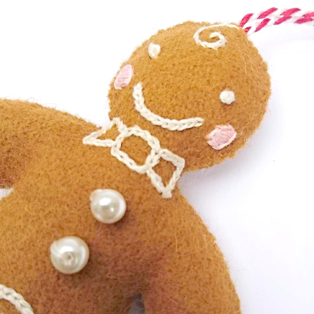 Handmade Christmas Decoration Gerry the Gingerbread Person