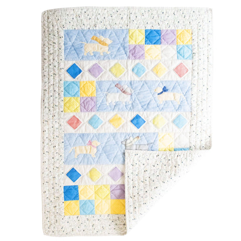 Children's Handmade Quilt Dashing Dogs