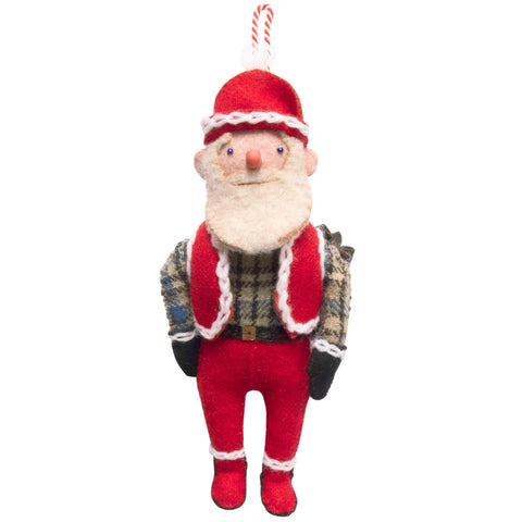 Handmade Christmas Decoration Hipster Father Christmas