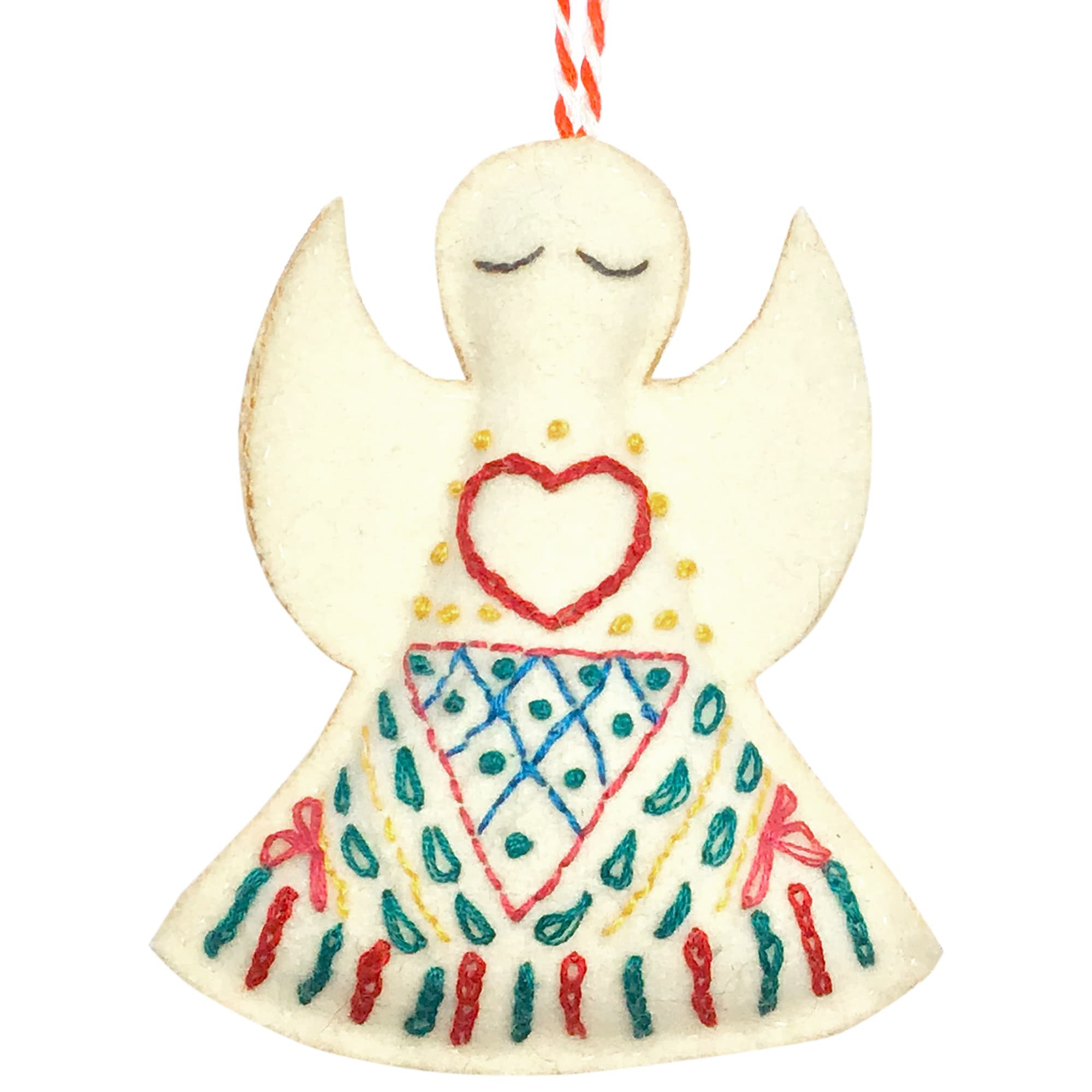 Handmade Felt Angel Christmas Decoration