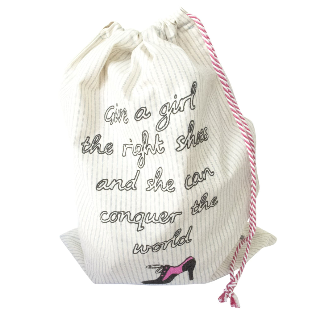 Marilyn Monroe Embroidered Quote Shoe Bag