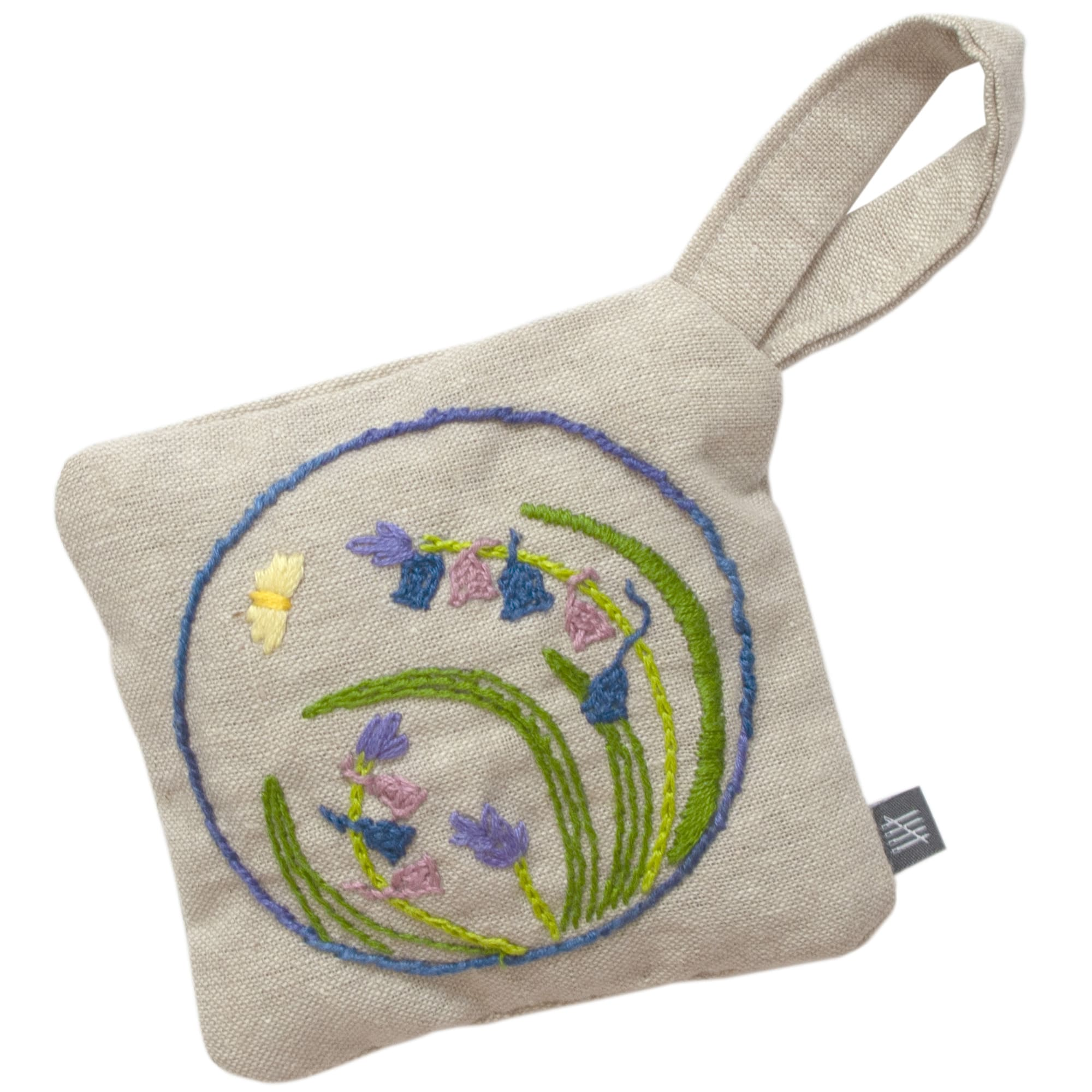 Plantlife Hand Embroidered Lavender Bag Floral Flower Butterfly Fine Cell Work