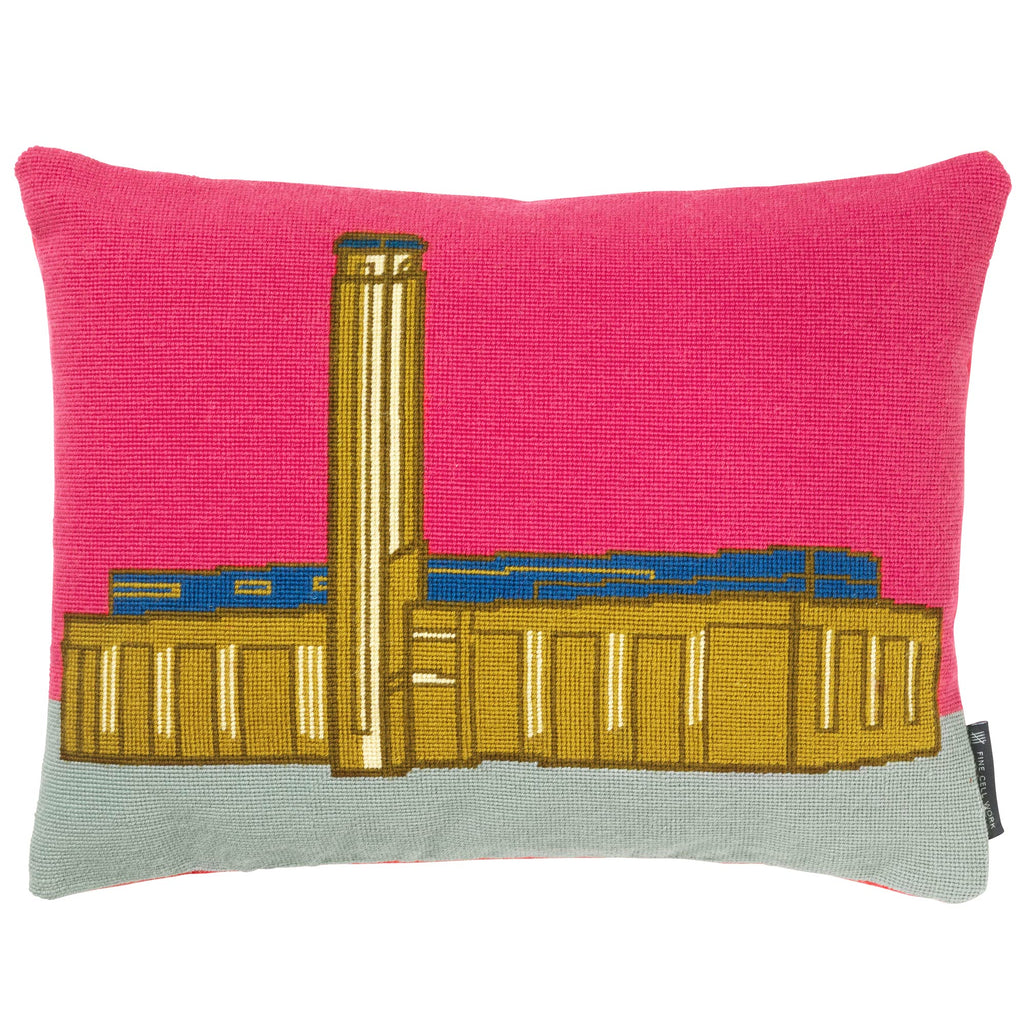 Landmarks New Tate Modern Needlepoint Cushion Fine Cell Work