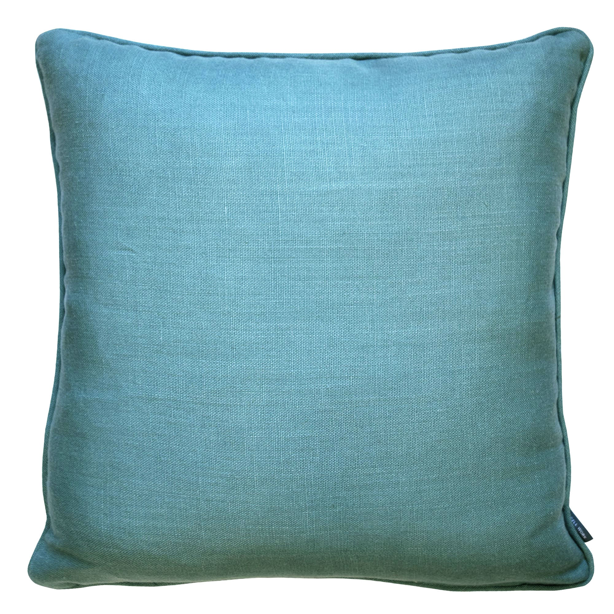 Fine Cell Work Linen Cushion Turquoise