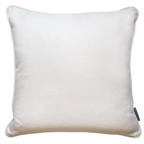 Fine Cell Work Linen Cushion White