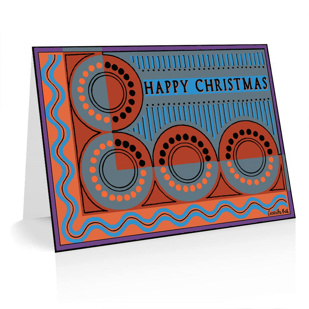 Pack of 5 Christmas Cards Cressida Bell Design