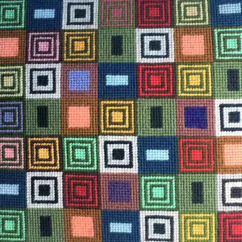 14 inch Geometric Needlepoint Cushion 309 Fine Cell Work