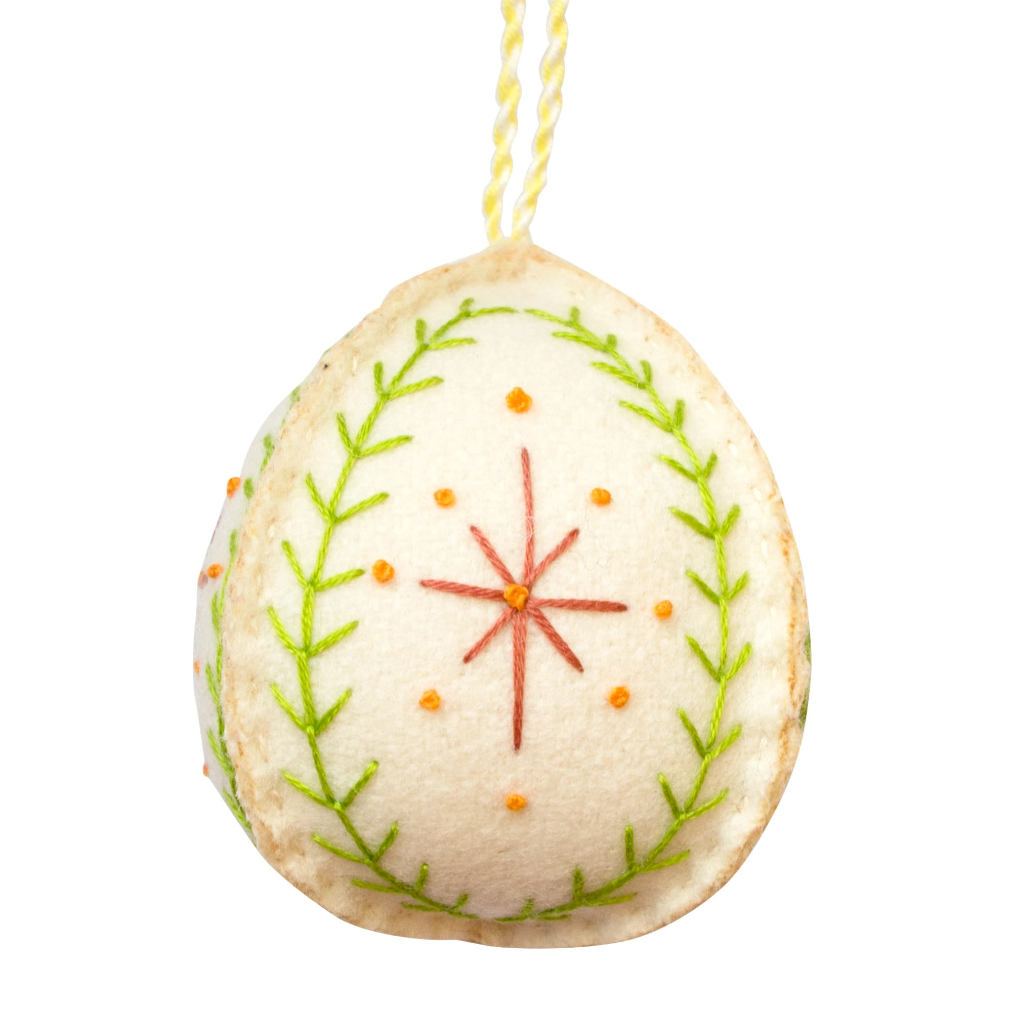Handmade Embroidered Christmas Bauble Decoration Fine Cell Work