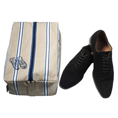Men's Travel Shoe Bag Wicket Indigo Fabric