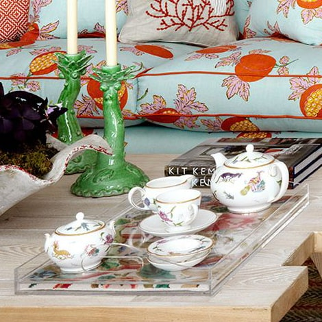 Kit Kemp for Fine Cell Work Antique Tapestry Tea Tray Caribbean Suite Turnell and Gigon Pop-up