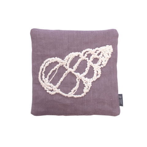Melissa Wyndham Shell Cone Embroidered Lavender Bag Purple