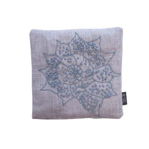 Melissa Wyndham Shell Star Embroidered Lavender Bag Blue