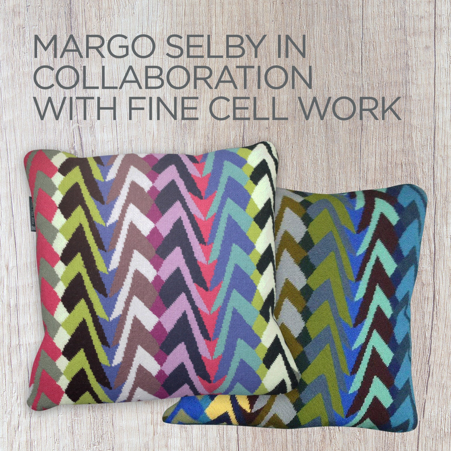Margo Selby Tonga Cushion Bright