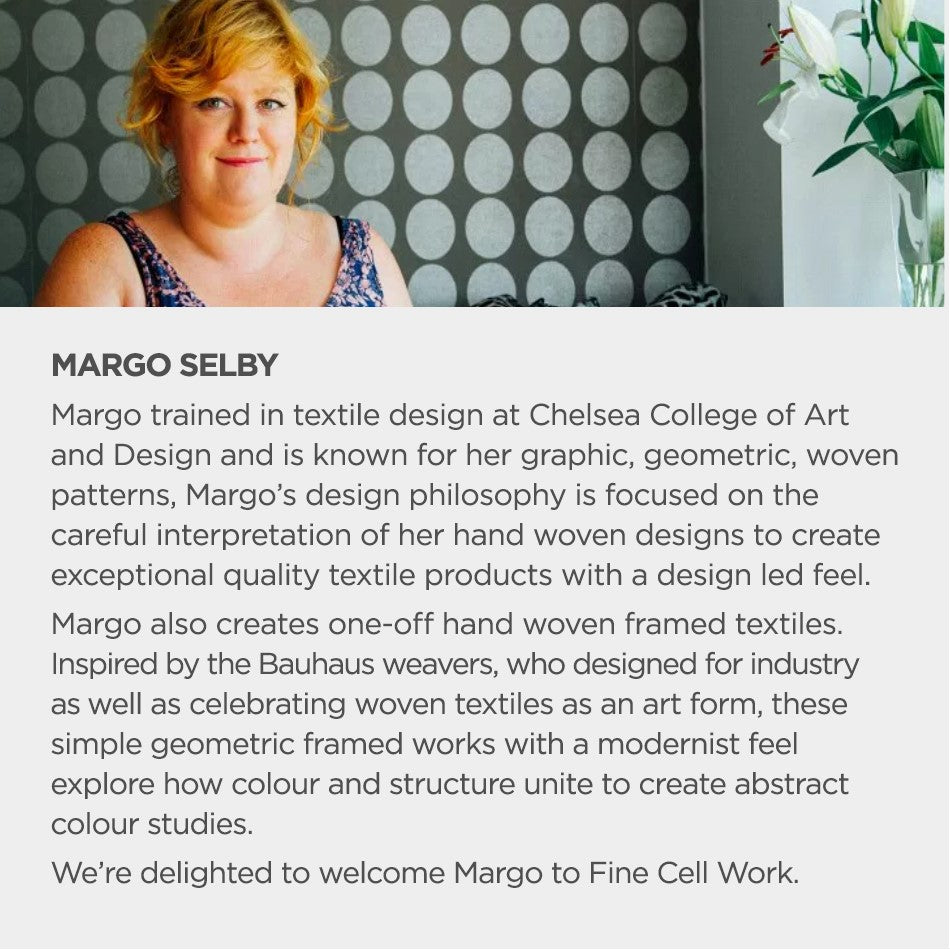 Margo Selby for Fine Cell Work Portrait and Biography