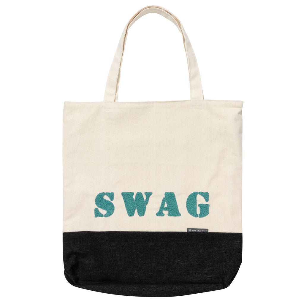 Swag Bag Turquoise Hand Embroidered Fine Cell Work