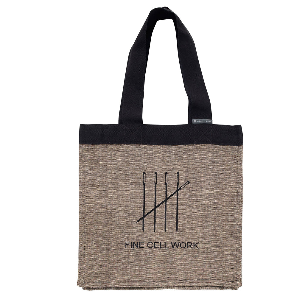 Fine Cell Work Embroidered Shopper Tote Bag Organic Cotton